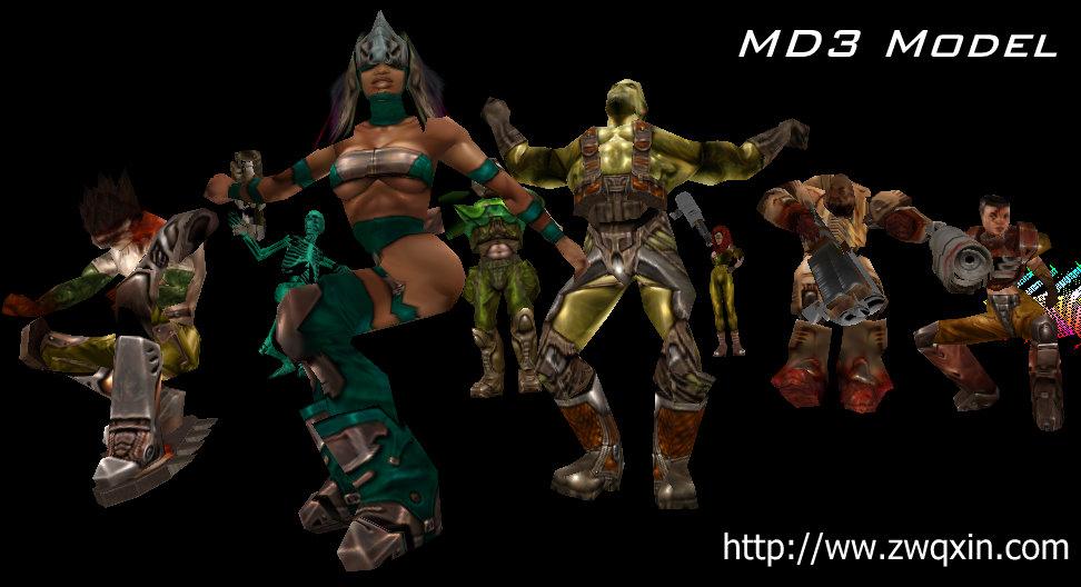 MD3模型的格式、导入与骨骼概念动画