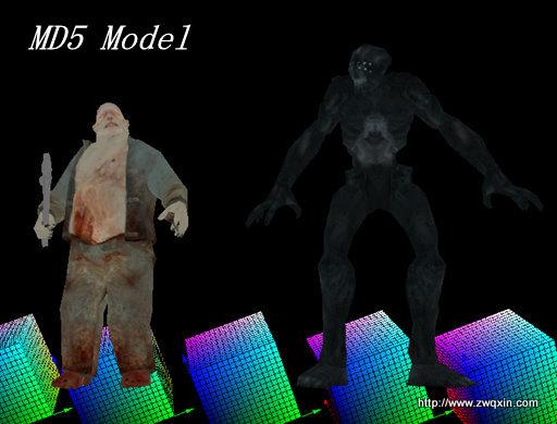 MD5模型的格式、导入与顶点蒙皮式骨骼动画