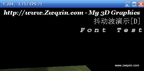 www.zwqxin.com 在Opengl上设置字体 显示文字